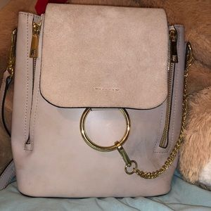 Handbags - Leather and Sued Beige Backpack